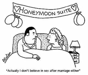 Not having sex and marriage